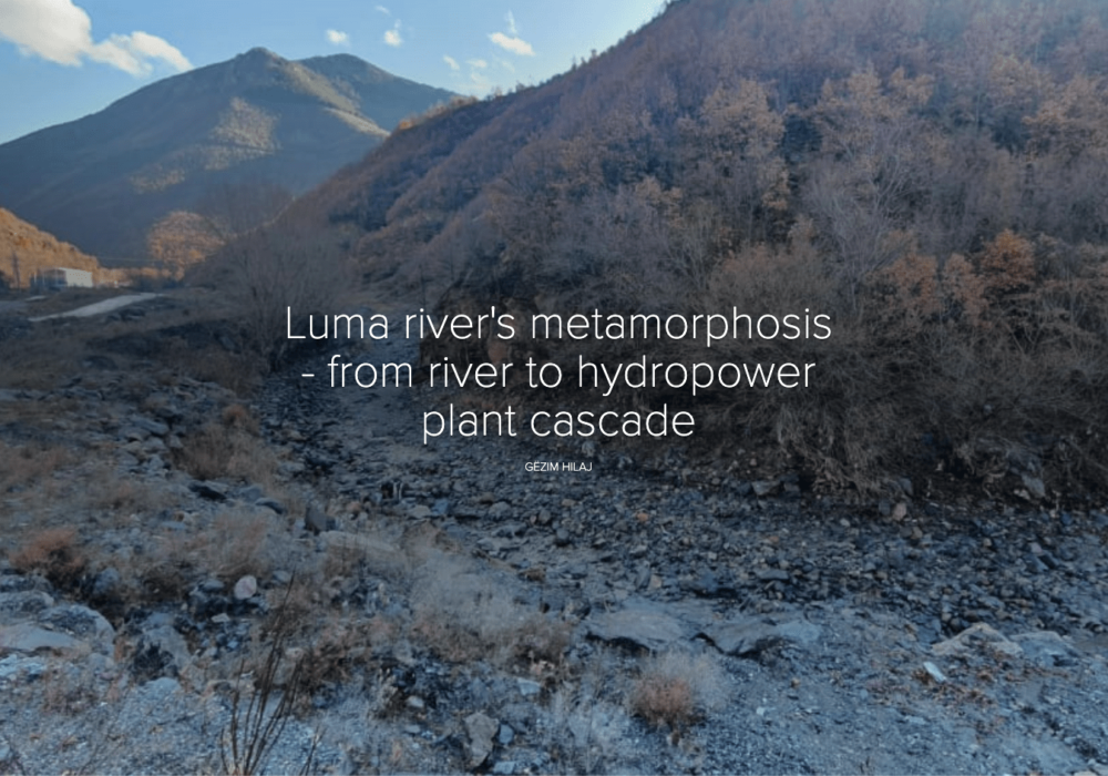 Lumas river's metamorphosis – from river to hydropower plant cascade