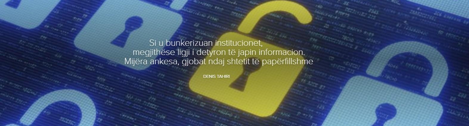 Si u bunkerizuan institucionet, megjithëse ligji i detyron të japin informacion. Mijëra ankesa, gjobat ndaj shtetit të papërfillshme